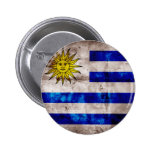 Weathered Uruguay Flag Buttons