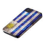 Weathered Uruguay Flag iPhone 4 Case-Mate Cases