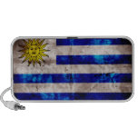 Weathered Uruguay Flag Speaker System