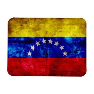 Weathered Venezuela Flag Rectangular Photo Magnet