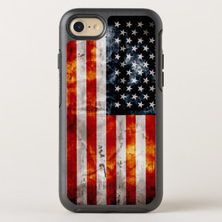 Weathered Vintage American Flag OtterBox Symmetry iPhone 8/7 Case