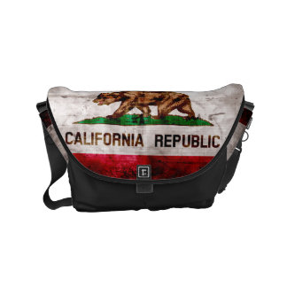 Weathered Vintage California State Flag Commuter Bags