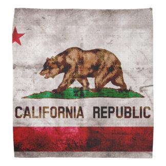 Weathered Vintage California State Flag Head Kerchief