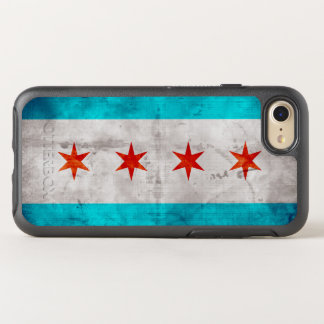 Weathered Vintage Chicago State Flag OtterBox Symmetry iPhone 8/7 Case