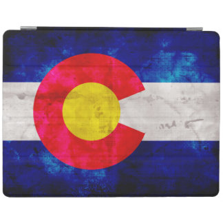 Weathered Vintage Colorado State Flag iPad Cover