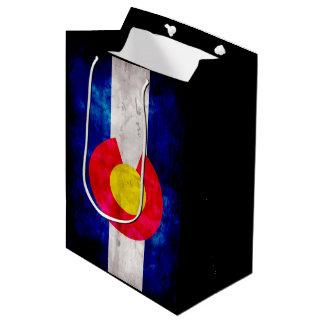 Weathered Vintage Colorado State Flag Medium Gift Bag