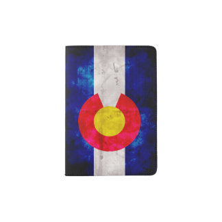 Weathered Vintage Colorado State Flag Passport Holder