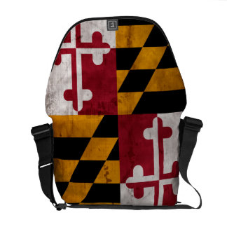 Weathered Vintage Maryland State Flag Courier Bag