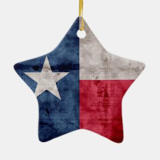 Weathered Vintage Texas State Flag Christmas Ornament