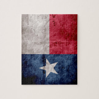 Weathered Vintage Texas State Flag Jigsaw Puzzle