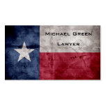 Weathered Vintage Texas State Flag Pack Of Standard Business Cards
