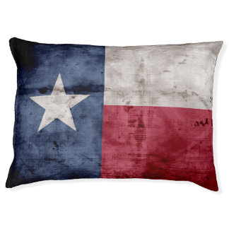 Weathered Vintage Texas State Flag Pet Bed