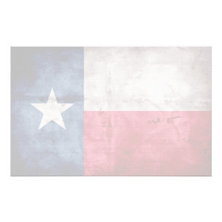 Weathered Vintage Texas State Flag Stationery