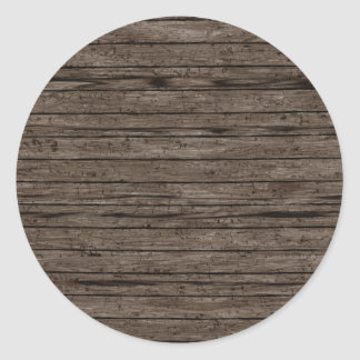 Weathered Wood Backgrounds. Wood Textures Pattern Classic Round Sticker