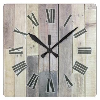 Weathered Wood Clocks