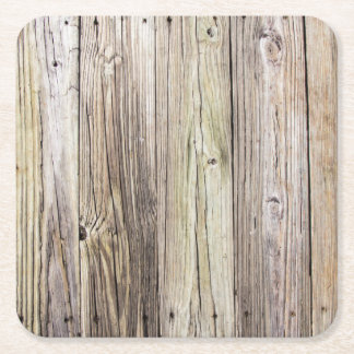 Weathered Wood Dock Boards with Rustic Charm Square Paper Coaster