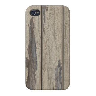 Weathered Wood Grain Pattern Covers For iPhone 4