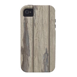 Weathered Wood Grain Pattern iPhone 4/4S Cases