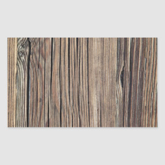 Weathered Wood Grain Plank Background Template Rectangular Sticker