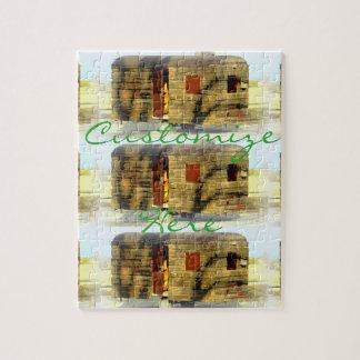 Weathered wood gypsy caravan jigsaw puzzle