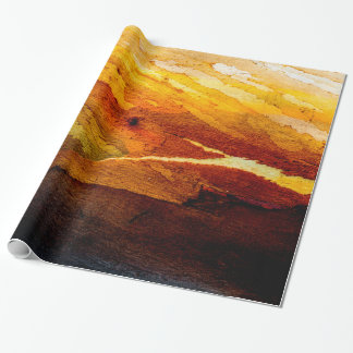 Weathered Wood Landscape Wrapping Paper
