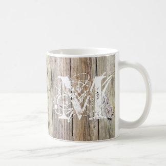Weathered Wood Monogrammed Classic Mug