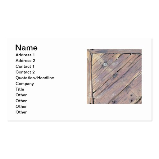 Weathered Wood Rough Textured Deck Business Card Templates