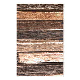 Weathered Wood with Many Shades of Brown Stationery Paper