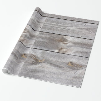 Weathered Wood Wrapping Paper