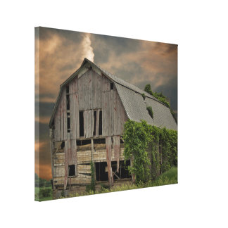 Weathered Wooden Barn Canvas Print