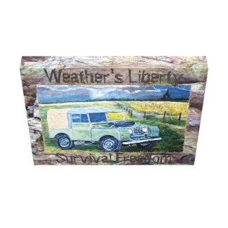Weather's Liberty Motto Canvas