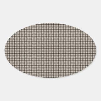 Weave - Almond Oval Sticker
