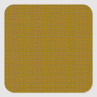 Weave - Amber Square Sticker
