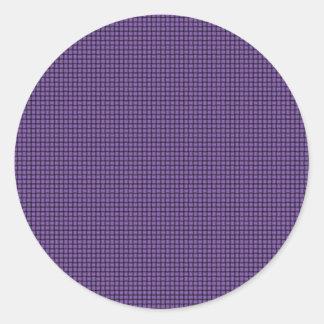 Weave - Amethyst Round Sticker