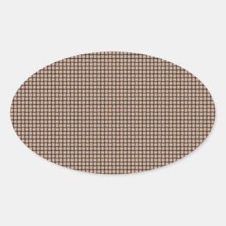 Weave - Apricot Oval Sticker