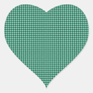 Weave - Aquamarine Heart Sticker