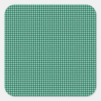 Weave - Aquamarine Square Sticker