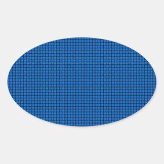 Weave - Azure Oval Sticker