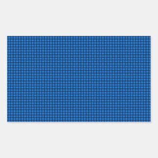 Weave - Azure Rectangular Sticker