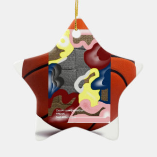 Weave Basketball Ceramic Star Decoration