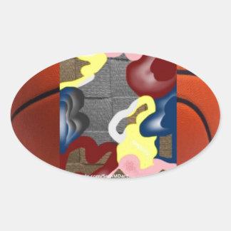 Weave Basketball Oval Sticker