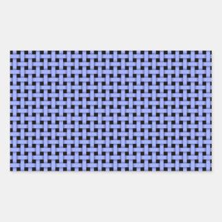 Weave- Blue Hues Rectangular Stickers