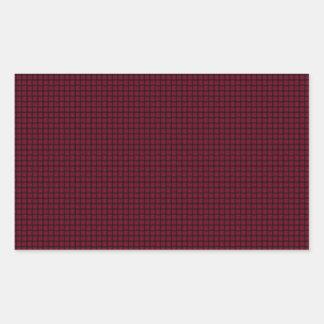 Weave - Burgundy Rectangle Sticker
