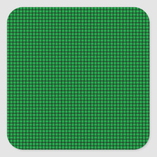 Weave - Dark Pastel Green Square Stickers