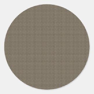 Weave - Khaki Round Sticker