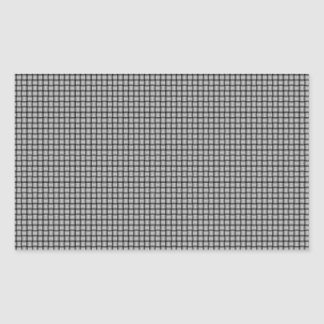 Weave - Light Gray Rectangle Stickers