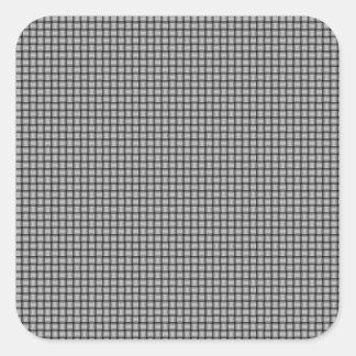 Weave - Light Gray Square Sticker