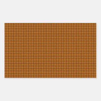 Weave - Orange Rectangular Stickers