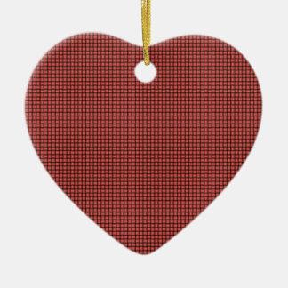 Weave - Pastel Red Ceramic Heart Decoration