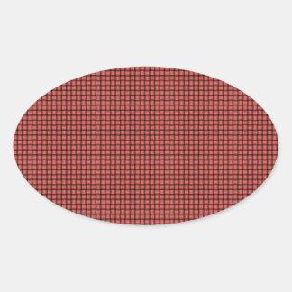 Weave - Pastel Red Oval Sticker